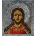 Христос Вседержител - посребрен обков от МИХАЛЕВ
