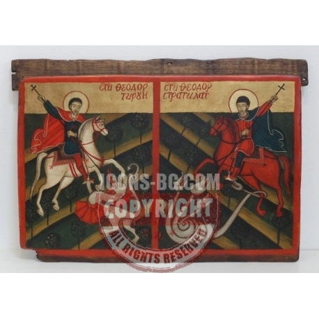 Св. Теодор Тирон и Св. Теодор Стратилат - икона от НЕНЧЕВИ