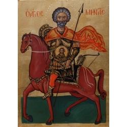 Свети Мина на кон - икона от АНТОНИЯ