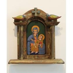Коптски иконостас със Света Богородица
