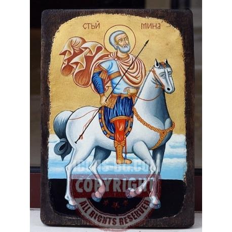 Св. Мина - икона от ТИНКА