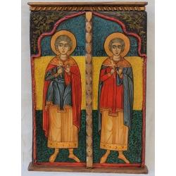 Свети Георги и Свети Димитър - икона от НЕНЧЕВИ