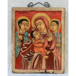 Света Богородица с ангели - етиопска икона от НЕНЧЕВИ