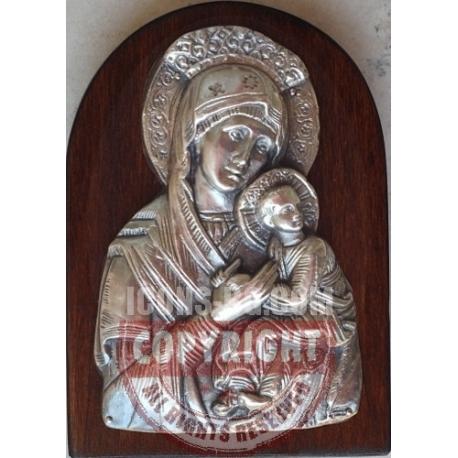 Св. Богородица с Младенеца - посребрен обков от МИХАЛЕВ