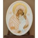 Света Богородица Умиление (в бяло) - икона от АНТОНИЯ