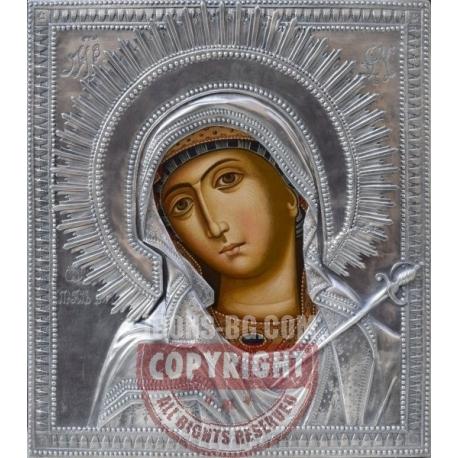 Св. Богородица Скърбяща - посребрена икона от МИХАЛЕВ