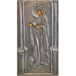 """Св. Богородица """"Герондиса"""" - посребрена икона от МИХАЛЕВ"""