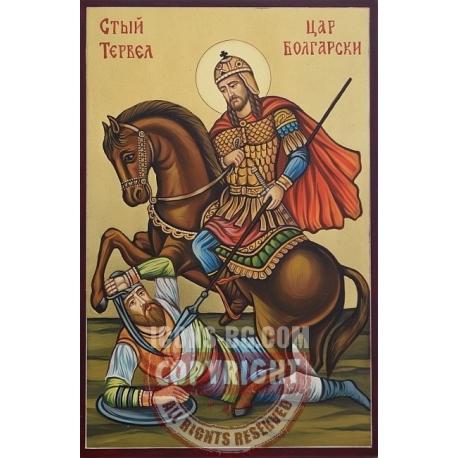 Св. благоверен цар български Тривелий - хан Тервел - икона от РОСЕН