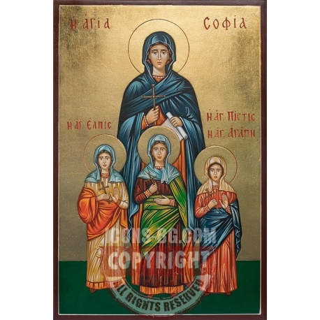 Св. София и нейните дъщери - икона от РОСЕН