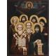 Свети Седмочисленици - рисувана икона, 40/30см.