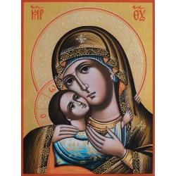 """Света Богородица """"Рилска"""" (златен фон) - икона от ИВА"""