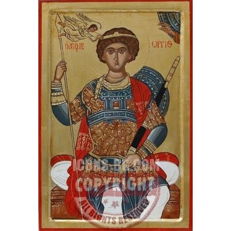 Свети Георги на трон - икона от АНТОНИЯ