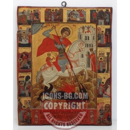 Св. Георги с житийни сцени