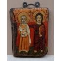 Свети Мина и Христос - коптска икона от НЕНЧЕВИ