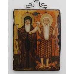 Свети Антоний и Св.пророк Илия - икона от НЕНЧЕВИ