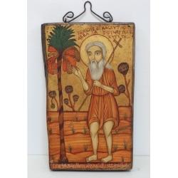 Свети преподобни Онуфрий Велики - коптска икона от НЕНЧЕВИ