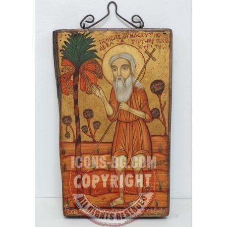 Свети преподобни Онуфрий Велики - коптска икона