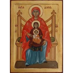 Св. Анна и Св. Богородица с Младенеца- икона от АНТОНИЯ