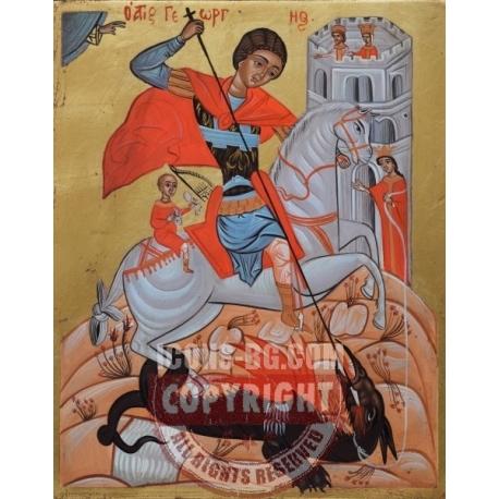 Свети Георги на кон - икона от АНТОНИЯ