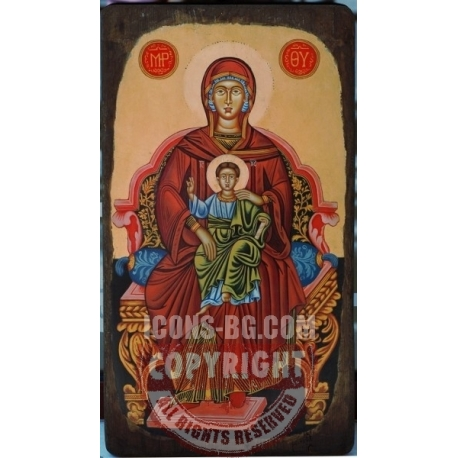 Света Богородица на трон - икона от ТИНКА