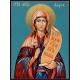 Света Дария - икона от РОСЕН (вариант: синьо-зелен фон)