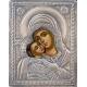 Св. Богородица (Рилска) - посребрена икона от МИХАЛЕВ