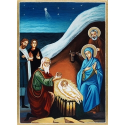 Рождество Христово - рисувана икона от ТИНКА