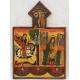 Св. Богородица, Св.Георги и ангели - коптска икона