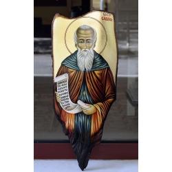 Св. Сава Освещени - икона от ГЕОРГИ