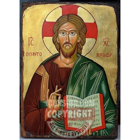 Христос Пантократор (Несебър) - икона от ТИНКА