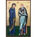 Св.Богородица Катафиги (Убежище) и св.Йоан Богослов - икона от РОСЕН