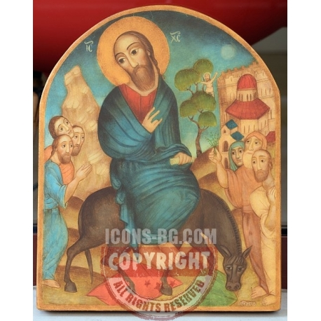 Вход в Йерусалим - икона от ЮЛИЯ