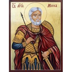 Свети Мина (20x15см.) - икона от РОСЕН