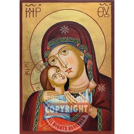 Св. Богородица Рилска (златен фон) - икона от ТИНКА