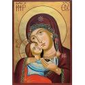 """Св. Богородица """"Рилска"""" (златен фон) - икона от ТИНКА"""