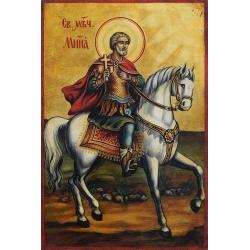 Свети Мина на кон - икона от РАЛИЦА
