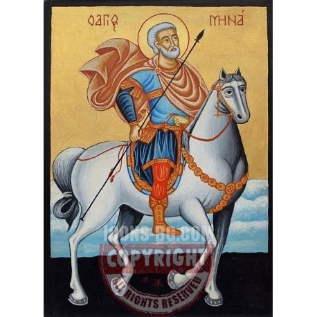 Свети Мина на кон - икона от ТИНКА