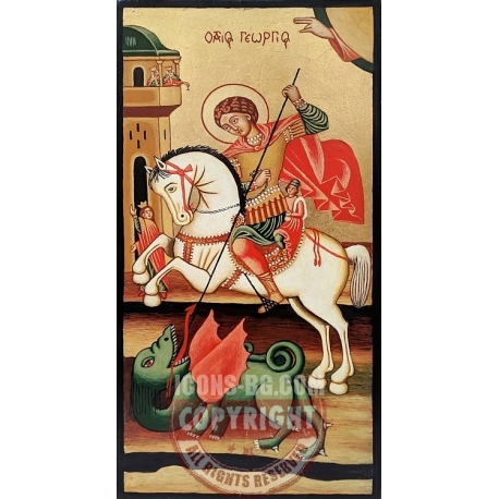 Св. Георги на кон (Несебър) - икона от ТИНКА