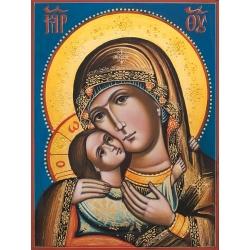 """Света Богородица """"Рилска"""" - рисувана икона, 20x15"""