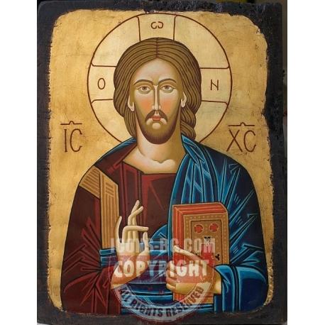 Иисус Христос Пантократор - икона от ТИНКА