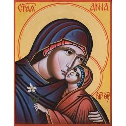 Света Анна - рисувана икона от ИВА