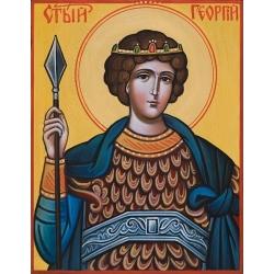 Свети Георги - рисувана икона от ИВА