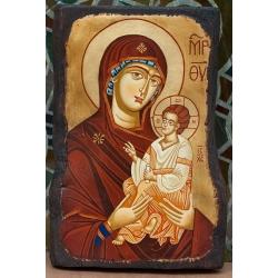 """Света Богородица """"Одигитрия"""" (Несебър) - икона от ТИНКА"""