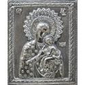 Св. Богородица (миниатюра) - посребрена икона от МИХАЛЕВ