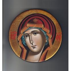 Пресвета Богородица - кръгла икона от ИВА