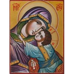 Богородица Умиление- рисувана икона от ИВА, 20x15см.