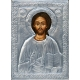 Христос Пантократор - посребрена икона от МИХАЛЕВ