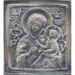 Посребрена миниатюра на Св. Богородица - икона от МИХАЛЕВ