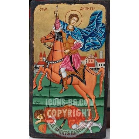 Св. Димитър - икона от ТИНКА