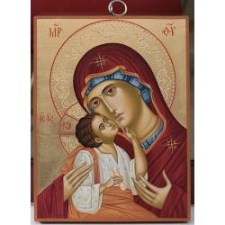 """Света Богородица """"Умиление"""" - икона от Емилия, 24/18см."""